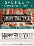 Vintage Happy Fall Y'all SVG Cutting File - Commercial Use SVG Files