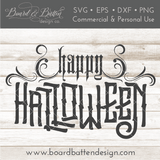 Happy Halloween 3 SVG File - Commercial Use SVG Files