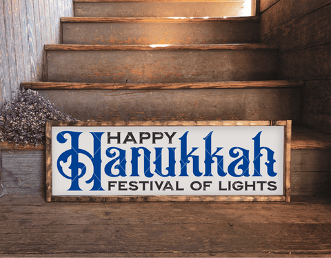 Happy Hanukkah Festival Of Lights SVG File