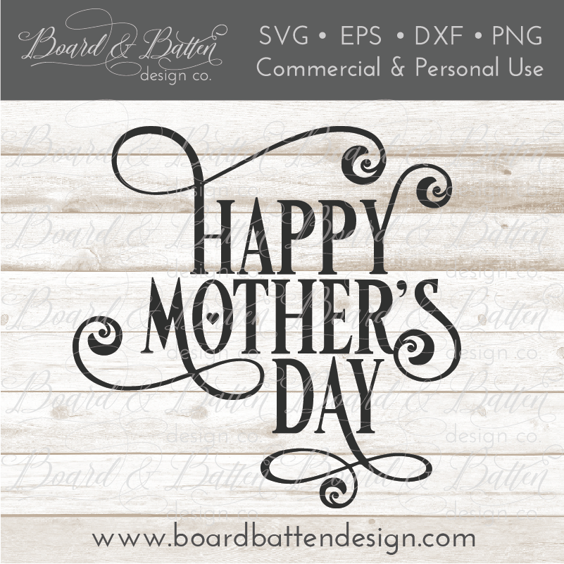 Happy Mother's Day 2 SVG File - Commercial Use SVG Files