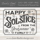 Personalizable Happy Solstice 8x10 SVG File
