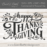 Happy Thanksgiving SVG Cut File