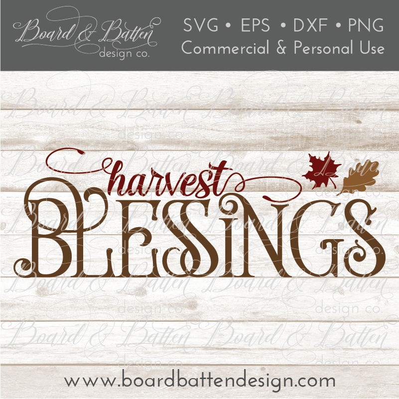 Harvest Blessings SVG File