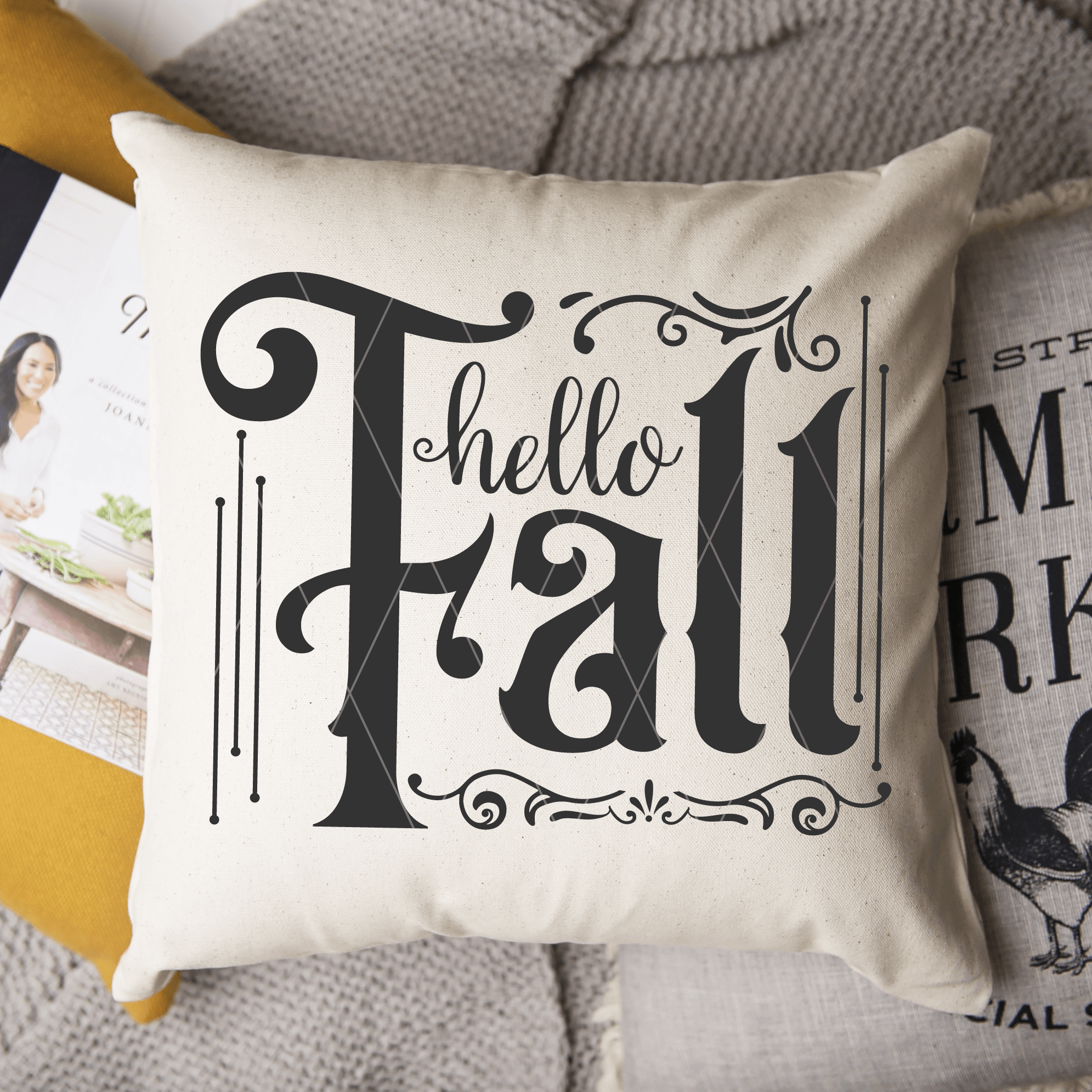 Hello Fall SVG Cut File for Autumn
