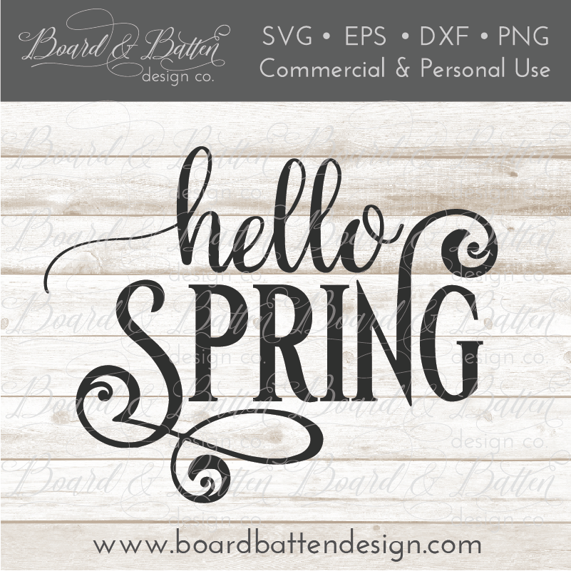 Hello Spring SVG File - Commercial Use SVG Files