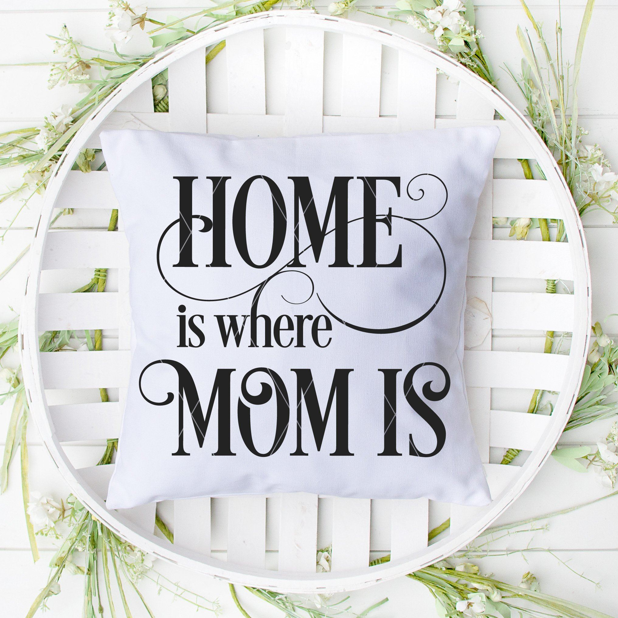 Home Is Where Mom Is SVG File For Mother's Day - Commercial Use SVG Files