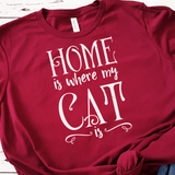 Home Is Where My Cat Is SVG File - Commercial Use SVG Files