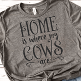 Home Is Where My Cows Are SVG File - Commercial Use SVG Files