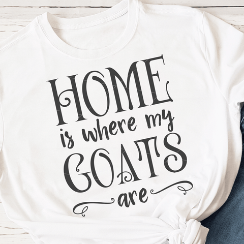 Home Is Where My Goats Are SVG File