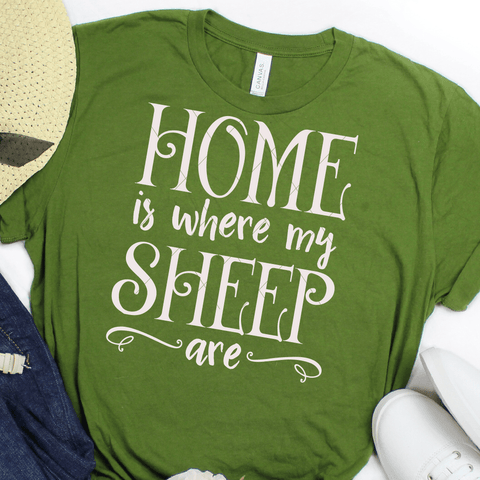 Home Is Where My Sheep Are SVG File