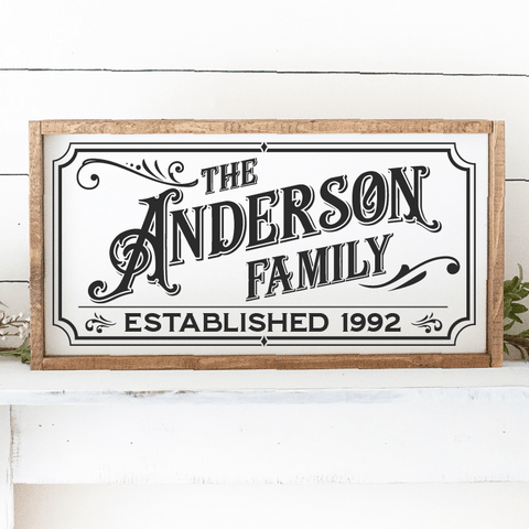 Custom Vintage Gothic Last Name Family & Est Date SVG File