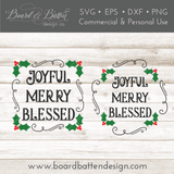 Joyful Merry Blessed SVG File