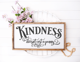 Kindness Quote SVG File - Commercial Use SVG Files