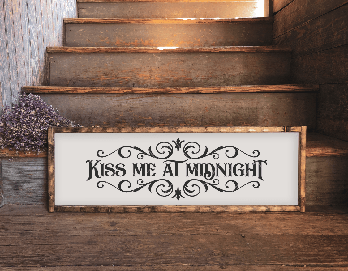 Kiss Me At Midnight SVG File for New Years
