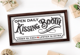 Vintage Kissing Booth Sign SVG For Valentine's Day - Commercial Use SVG Files