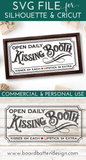 Vintage Kissing Booth Sign SVG For Valentine's Day