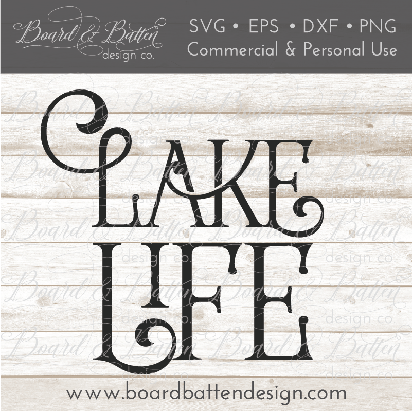 Lake Life SVG File - Commercial Use SVG Files
