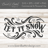 Let It Snow SVG File Style 5