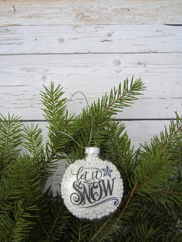 Vintage Sign Label Let It Snow SVG File