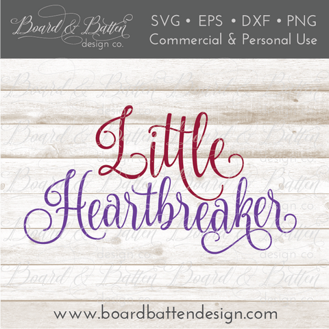 Little Heartbreaker SVG File