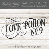 Love Potion No 9 Vintage SVG - Commercial Use SVG Files