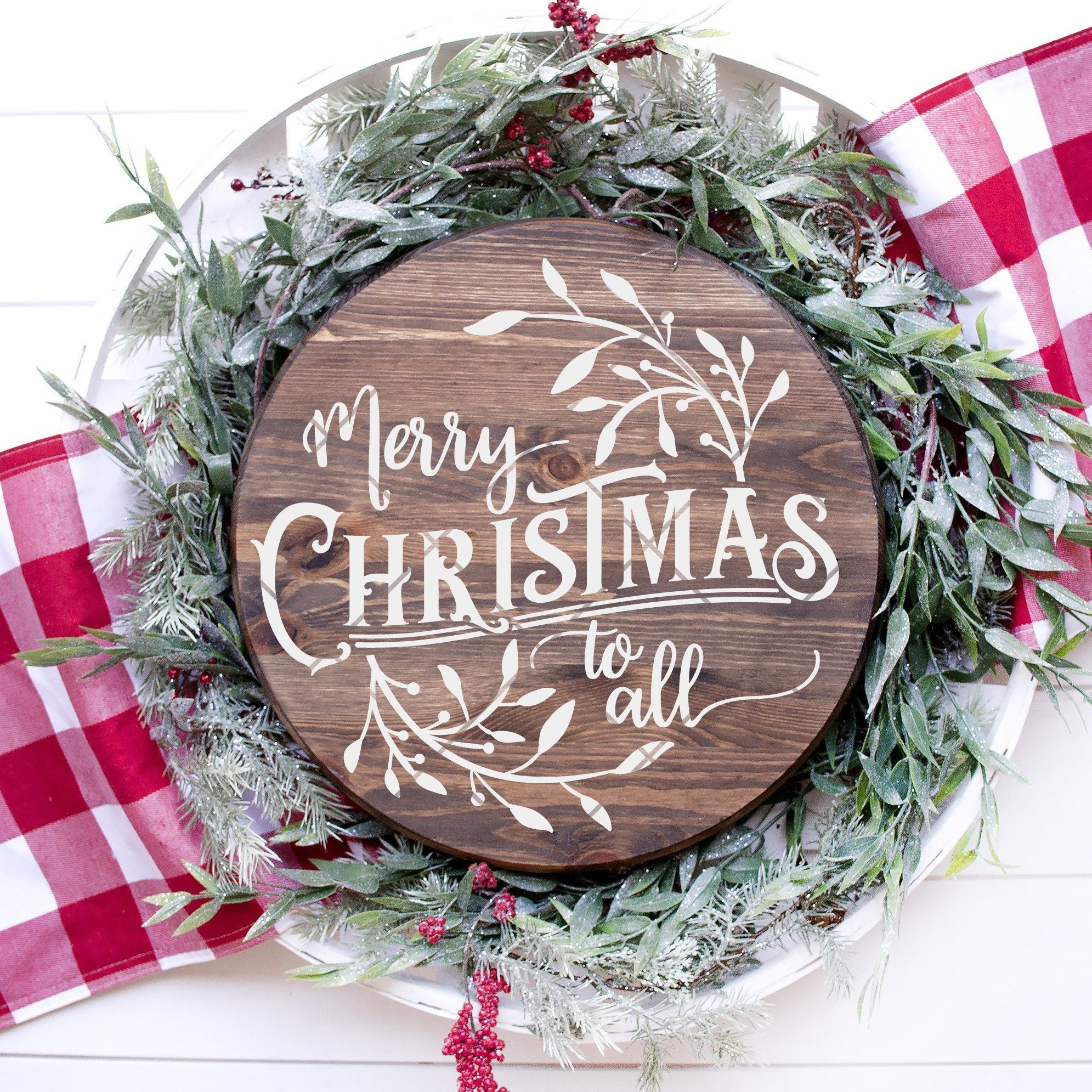 Round Merry Christmas To All SVG File - Commercial Use SVG Files
