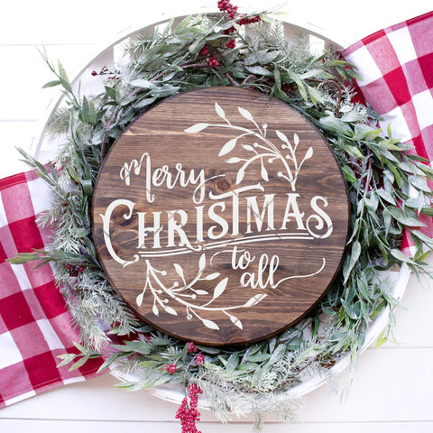 Round Merry Christmas To All SVG File