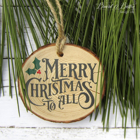 Merry Christmas to All Vintage Christmas SVG File