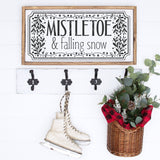 Mistletoe & Falling Snow SVG File For Christmas & Holidays