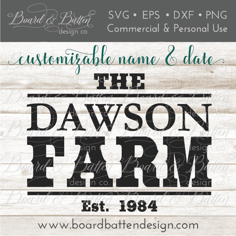 Western Farm Established Sign SVG File