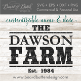 Western Farm Established Sign SVG File - Commercial Use SVG Files