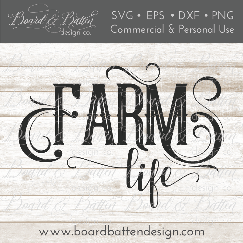 Farm Life SVG File - Style 2 - Commercial Use SVG Files