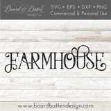 Vintage Farmhouse SVG File - Commercial Use SVG Files