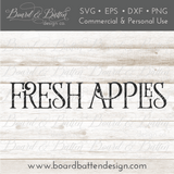 Fresh Apples Farmhouse SVG File - Commercial Use SVG Files