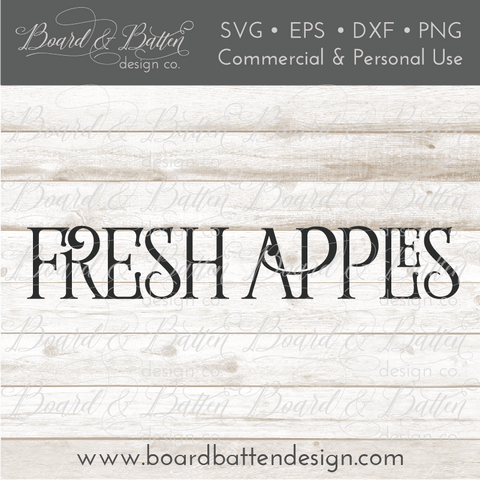 Fresh Apples Farmhouse SVG File