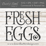 Fresh Eggs SVG File - Style 2 - Commercial Use SVG Files