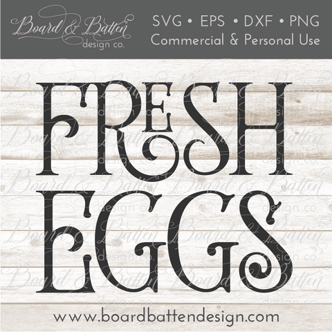 Fresh Eggs SVG File - Style 2