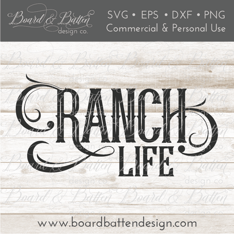 Ranch Life SVG File