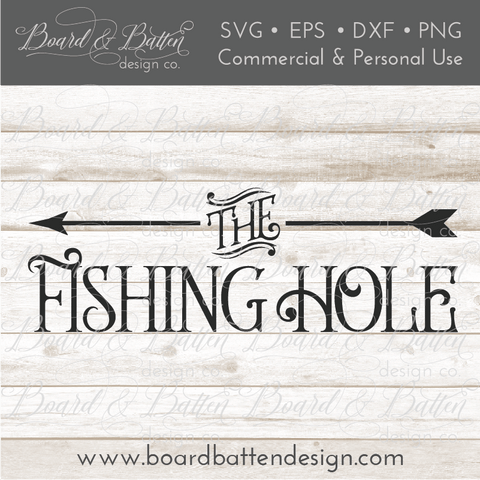 The Fishing Hole SVG File