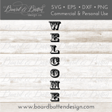Welcome Vertical Plank SVG File - Commercial Use SVG Files