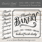 Mom's Bakery Sign Vintage SVG File