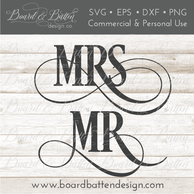 Mr and Mrs SVG File - WS5