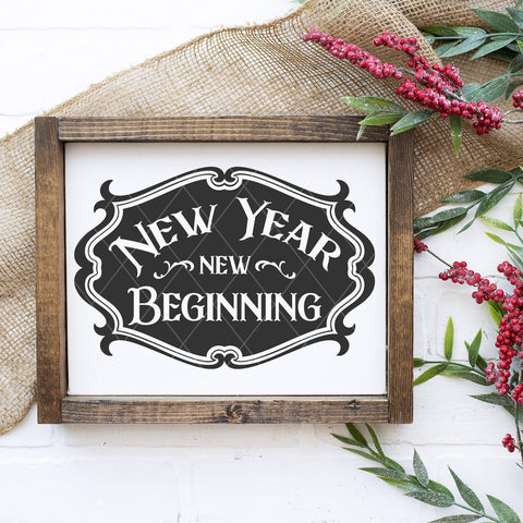 New Year New Beginning SVG File