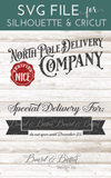 North Pole Delivery Company Customizable SVG File for Christmas Bags - Commercial Use SVG Files