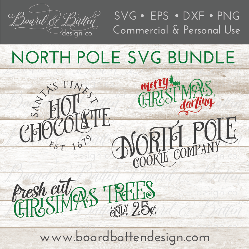 North Pole Christmas SVG Cut File Bundle