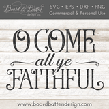 O Come All Ye Faithful Christmas Song SVG File - Commercial Use SVG Files