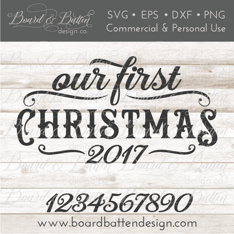 Our First Christmas Vintage SVG File