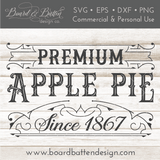 Vintage Premium Apple Pie SVG File - Commercial Use SVG Files