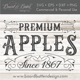 Vintage Premium Apples SVG File - Commercial Use SVG Files