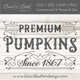 Vintage Premium Pumpkins SVG File - Commercial Use SVG Files